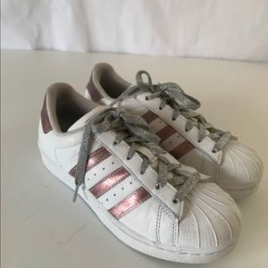 Adidas Superstar Shell Top white & pink size 3.5
